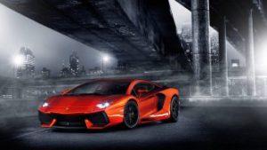 Narancssárga Lamborghini