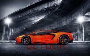 Narancs Lamborghini Cz Fólia felirattal