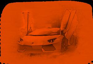 Cz Fólia Lamborghini Aventador rajz